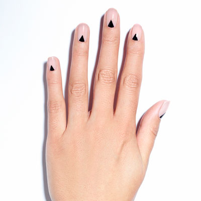 white nails with black